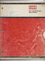 Original OE OEM Case 475 555 Windrower Parts Catalog # C1067 Dated April 1970