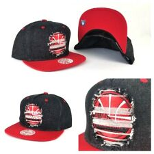 Mitchell & Ness Golden State Warriors Denim Black / Red Distressed snapback Hat