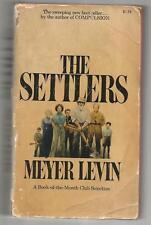 THE SETTLERS byMEYER LEVIN,(Pocketbook,paperback book,1973)
