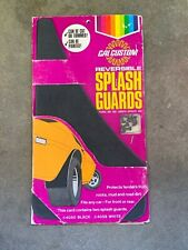 NOS Cal Custom Black Reversible Splash Guards (Mud Flaps) 4050 CHEVY GM FORD USA