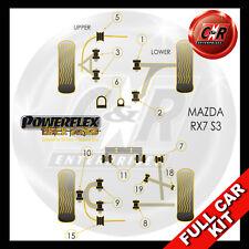 Mazda RX-7 Generation 3 & 4 (92-02) Powerflex Black Complete Bush Kit