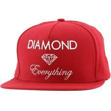 Diamond Supply Co Diamond Everything Snapback Cap (cardinal)