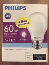 (8 BULBS)Bright LED Bulb 60-Watt Equivalent Daylight Classic Glass Energy Saving