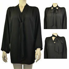 Chiffon Party Patternless Plus Size Tops & Shirts for Women