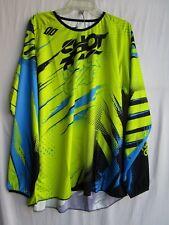 SHOT race gear CAPTURE motocross men's jersey EXTRA LARGE  A0F-12C1-A08-11 yel