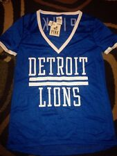 Victorias Secret Pink Detroit Lions NFL Football V Neck Jersey Shirt Blue L Nwt