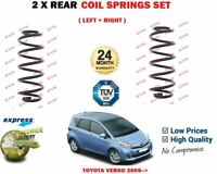 FOR TOYOTA VERSO 2.0 2.2 D4D MPV 2009->NEW 2X REAR LEFT RIGHT COIL SPRINGS SET