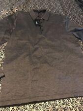 Men's Hugo Boss Black  Label LONG SLEEVE POLO Shirt ,Size L Pearl 05