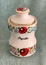 Kalocsa Hand Painted PAPRIKA  Hand Painted  Spice Jar  Mint Condition.