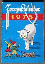 Zwergenkalender 1975, Illustriert von Elisabeth Buzek