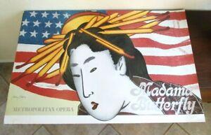 "Vintage Larry Rivers MADAME BUTTERFLY Poster, Metropolitan Opera, 36""x24"" 1978"