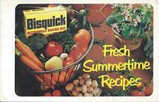 Bisquick - Fresh Summertime Recipes (1977)  General Mills Advert. Pamphlet