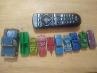 Lot of 9 Vintage Tootsie Toy Diecast Cars Trucks, 1 Trailer CHICAGO U.S.A.