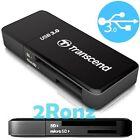 Transcend RDF5 USB 3.0 Card Reader SDXC Micro SDHC SD TF UHS-I U1 Memory Black