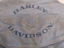 HARLEY DAVIDSON RARE VINTAGE MEN'S BILLINGS DISTRESSED LEATHER JACKET - LARGE !!