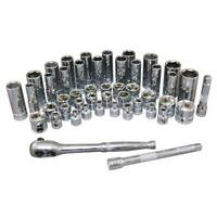 """Atd Tools ATD-12001A 44 Pc. 1/4"""" Drive 6-point Sae And Metric Pro Socket Set"""