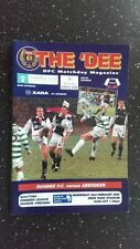 Aberdeen Home Team Football Scottish Fixtures (1990s)
