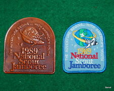 BOY SCOUT 1989 JAMBOREE LEATHER AND POCKET PATCHES