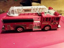 """Tonka 2010 Hasbro Fire Truck 13"""" Working Sirens Light Sound Red Extension Ladder"""