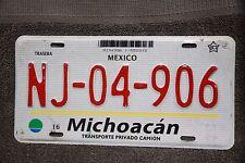 MICHOACAN , MEXICO  Graphic License Plate ***   SOLID   *** Private car