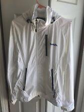 Men's UK Bench White Blue L/S Jacket Windbreaker RARE Lightweight Size Medium M