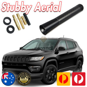 Antenna / Aerial Stubby Bee Sting for Jeep Compass Black Carbon 8 CM