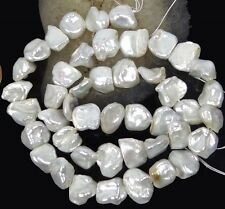 """8x10mm White Keishi Cultures Pearl Nugget Beads Natural Lustrous 16"""""""