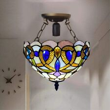 Beautiful unique Tiffany Style Ceiling Light Handcrafted Stained Glass Lamps