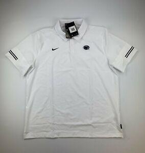 NEW Nike Penn State On Field Polo SHIRT Dri Fit Flex CQ5275-100 $80 Size 2XL