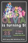 Personalised MY LITTLE PONY Birthday Party Invitation Invites DIGITAL YOU PRINT