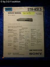 Sony Service Manual STR KSL5 Home Theater Sytem (#5453)