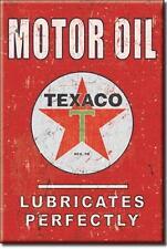 Texaco Motor Oil USA Retro Tankstellen Magnet Schild