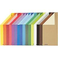 16 x A4 Card Stock Assorted Colours Double Sided Making Scrapbooking Craft 250g