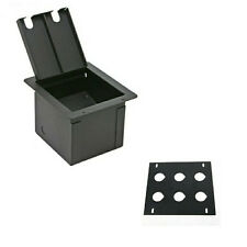 Recessed Stage Floor Box w/Pre Punched 6 D XLR Holes Plate By Elite Core