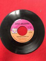 "45 RPM 7"" Record Bobby Goldsboro The Straight Life Tomorrow Is Forgotten UA50461"