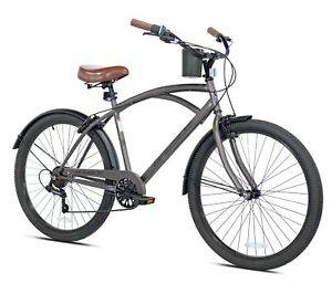 "Kent 26"" Bayside Men's Cruiser Bike, Satin Cocoa Brown Fast Free Shipping New"