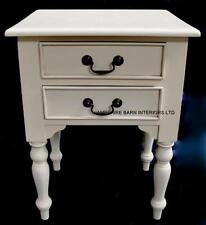 Antique White Cream bedside cabinet chest drawers mahogany  Side Lamp Table