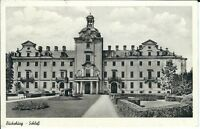 """Ansichtskarte Bückeburg """"Schloss mit Schlosspark"""" - schwarz/weiß"""