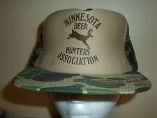 DEER HUNTERS MN MESH SNAPBACK Baseball Cap Trucker Hat Retro Rare Unique Lid Q