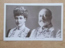 VINTAGE POSTCARD - H.R.H. KING EDWARD VII & QUEEN ALEXANDRA  RP