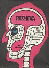 Original Vintage Poster Polish Film The Conversation Coppola Gene Hackman 1975