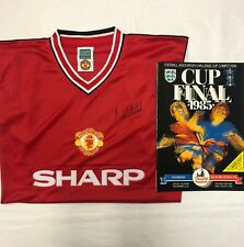 Norman Whiteside signed shirt + 1985 FA Cup Final programme RRP £175