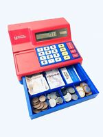 Learning Resources Toy Till Cash Register Calculator Play Money Notes Coins