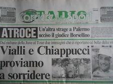 CORRIERE DELLO SPORT 20-07-1992 - Gianluca Vialli Roberto Baggio Chiappucci[G44]