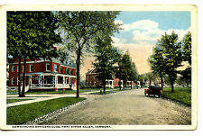 Commanding Officers Club-Grounds on Fort Ethan Allen-Vermont-Vintage Postcard