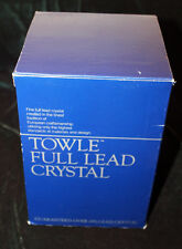 Vintage Box Set of 4 Towle Full Lead Crystal Westerly Fluted Champagne Stems