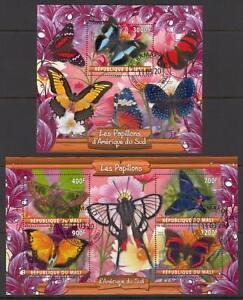 SVVGTA C60 limited 2019-2020 Fauna Butterflies 2 sheets