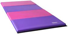 New Pink/Purple Gymnastics Mat Folding Gymnastics Panel Tumble Mat 8ftX4ft