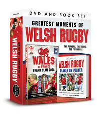 GREATEST MOMENTS OF WELSH RUGBY DVD & BOOK SET, WALES vs FRANCE GRAND SLAM 2008