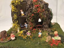 Artist Carol Webb Peter Rabbit Hollow ROOM BOX Diorama Dollhouse MINIATURES